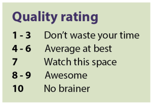 Key for Nutrient series quality rating