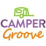 Word and image logo for the website Camper Groove